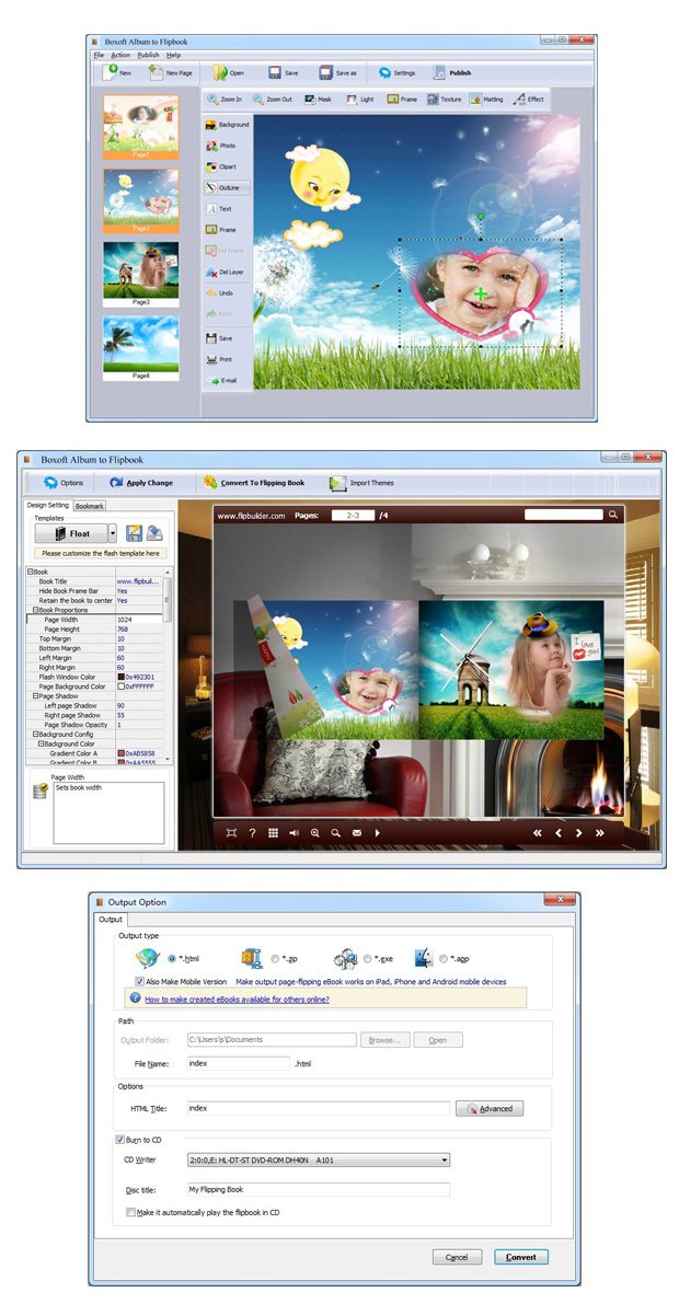 Windows 7 Boxoft Album to Flipbook 1.5 full