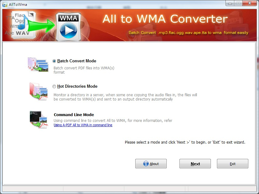 Batch Convert Audio to Wma