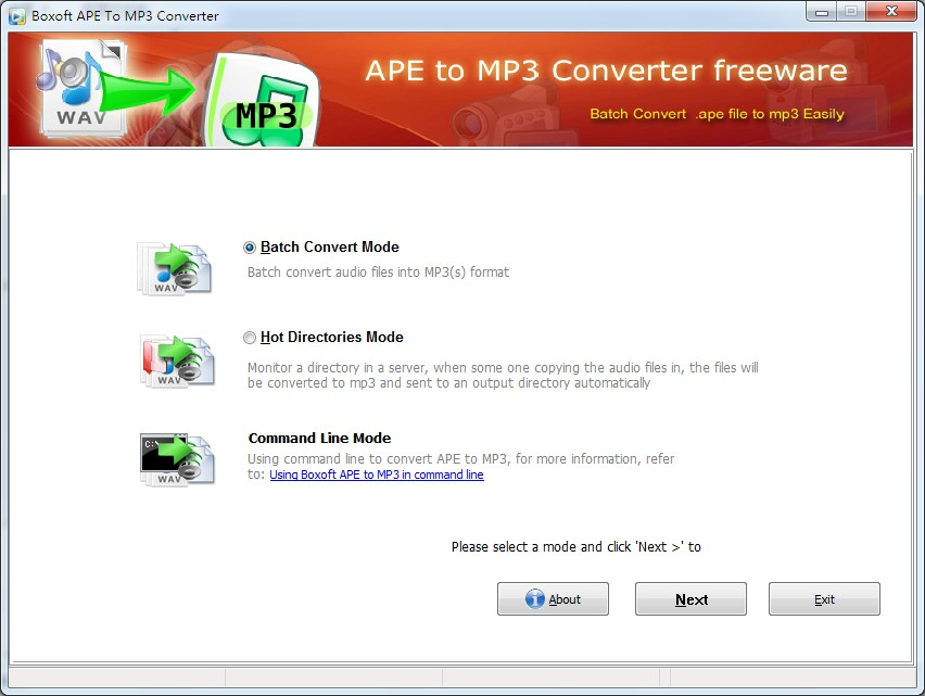Boxoft APE to MP3 Converter 1.0