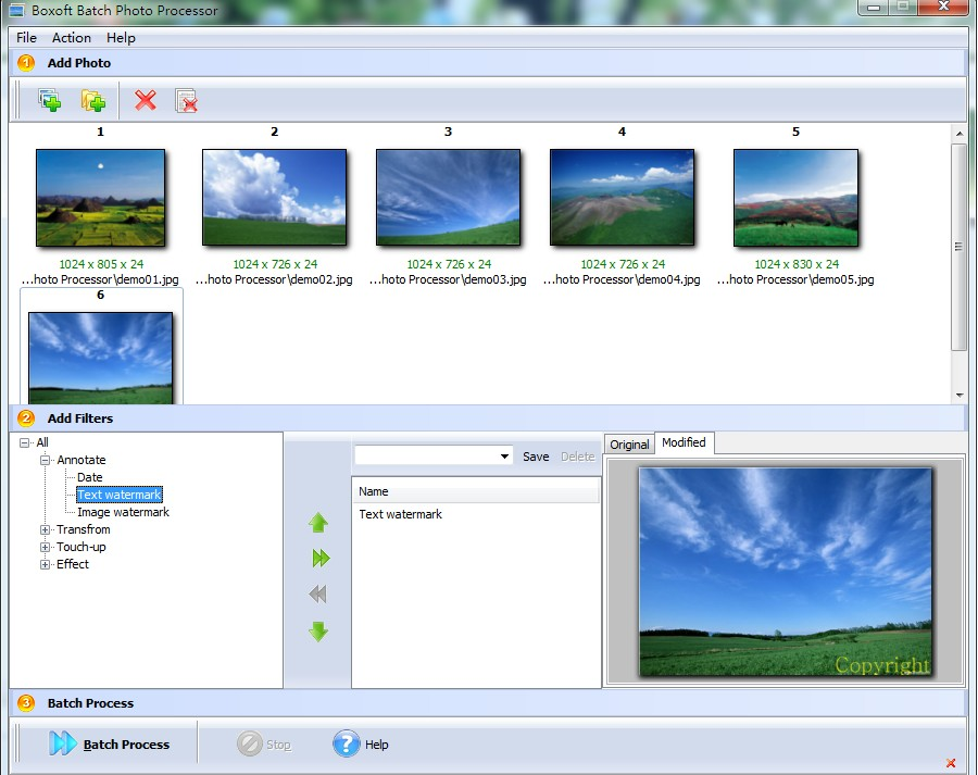 Boxoft Batch Photo Processor full screenshot