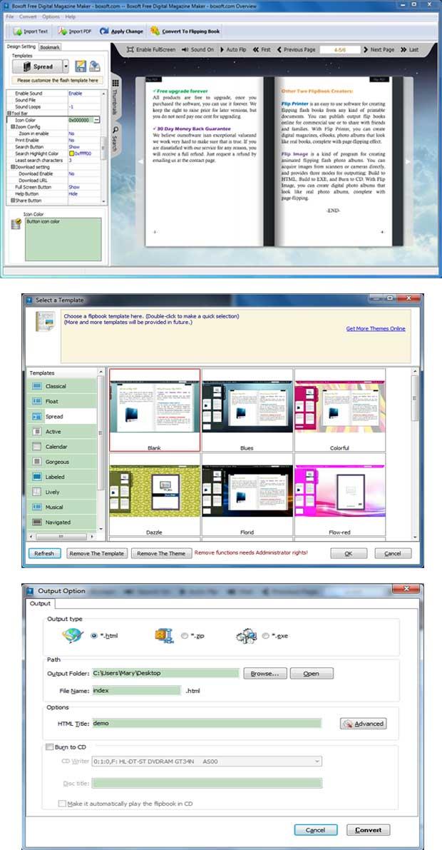 Windows 7 Boxoft Free Digital Magazine Maker(freeware) 1.0 full