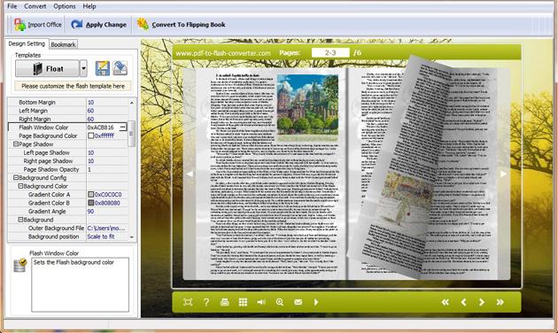 PDF to SWF Converter full screenshot