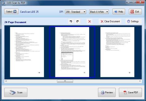 Scan to PDF full screenshot