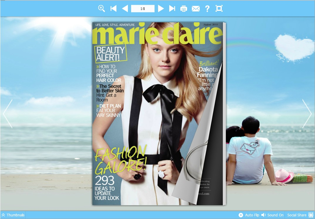 Free html5 Magazine Publishing Software full screenshot