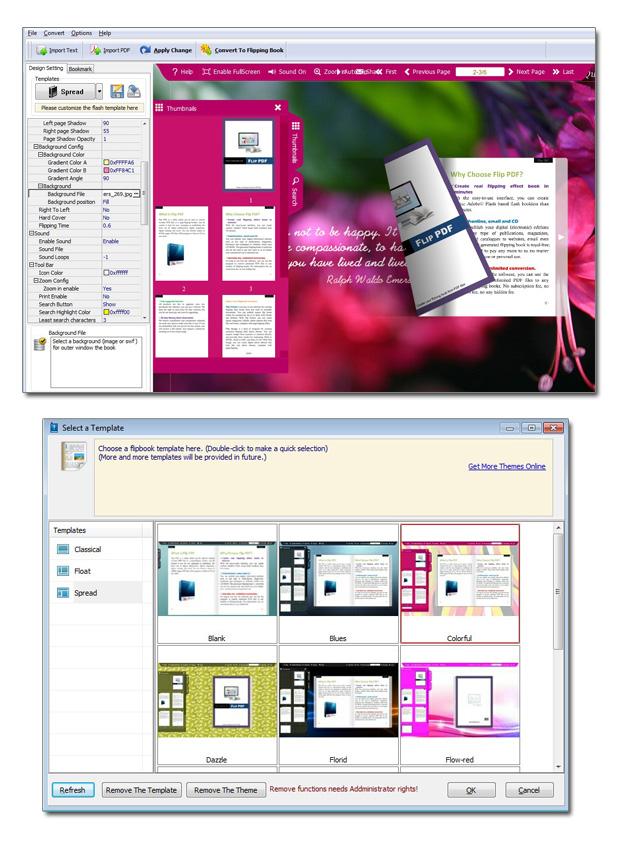 Free flash flip book website template for Website layout maker