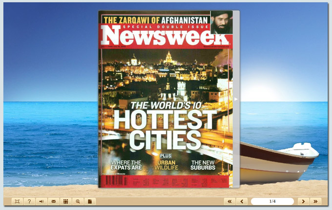 Boxoft Free Flash Magazine Software screenshot