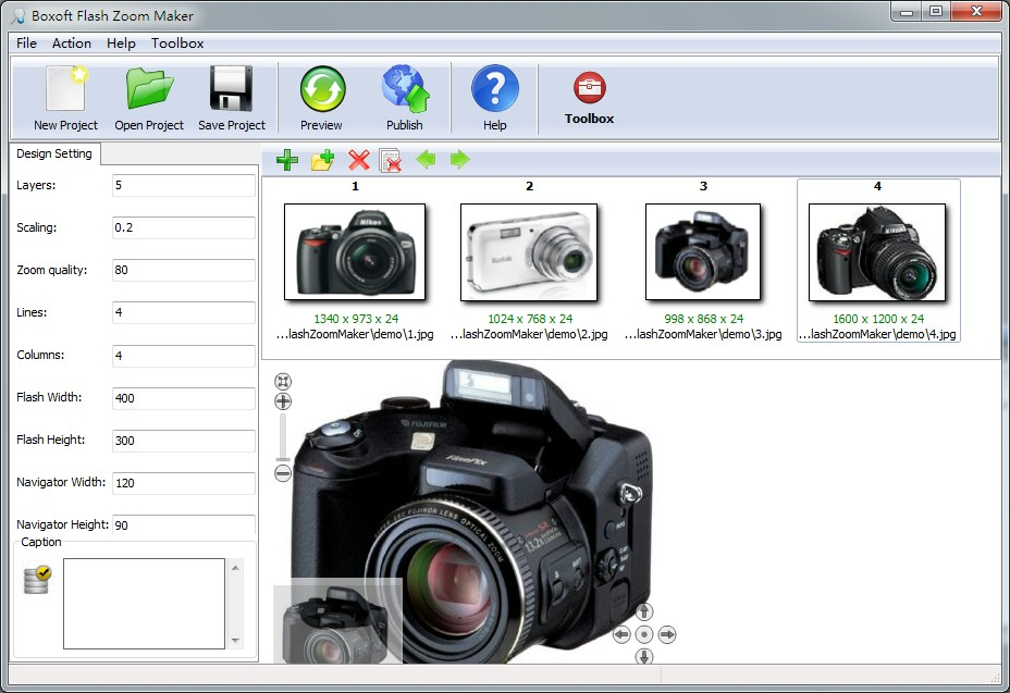 Boxoft Flash Zoom Maker 1.3 full
