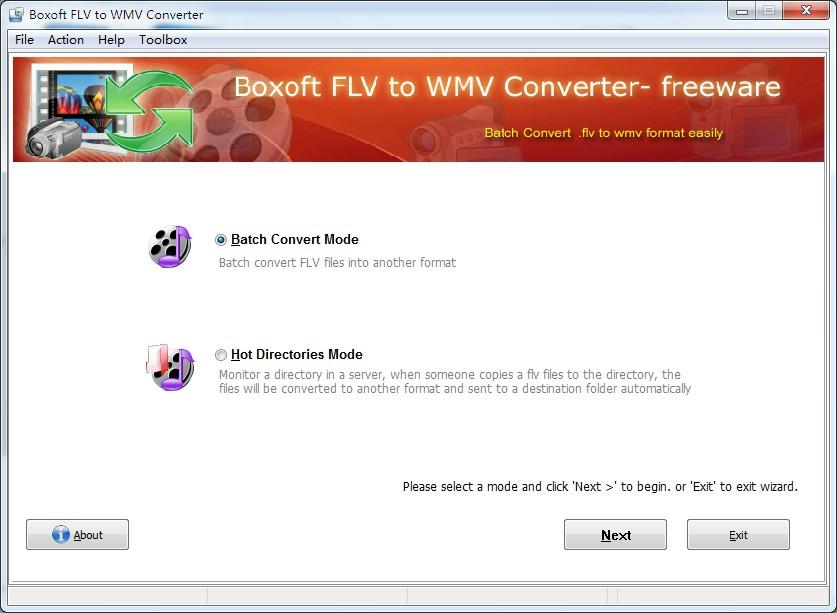 Windows 7 Boxoft free FLV to WMV Converter (freeware) 1.0 full
