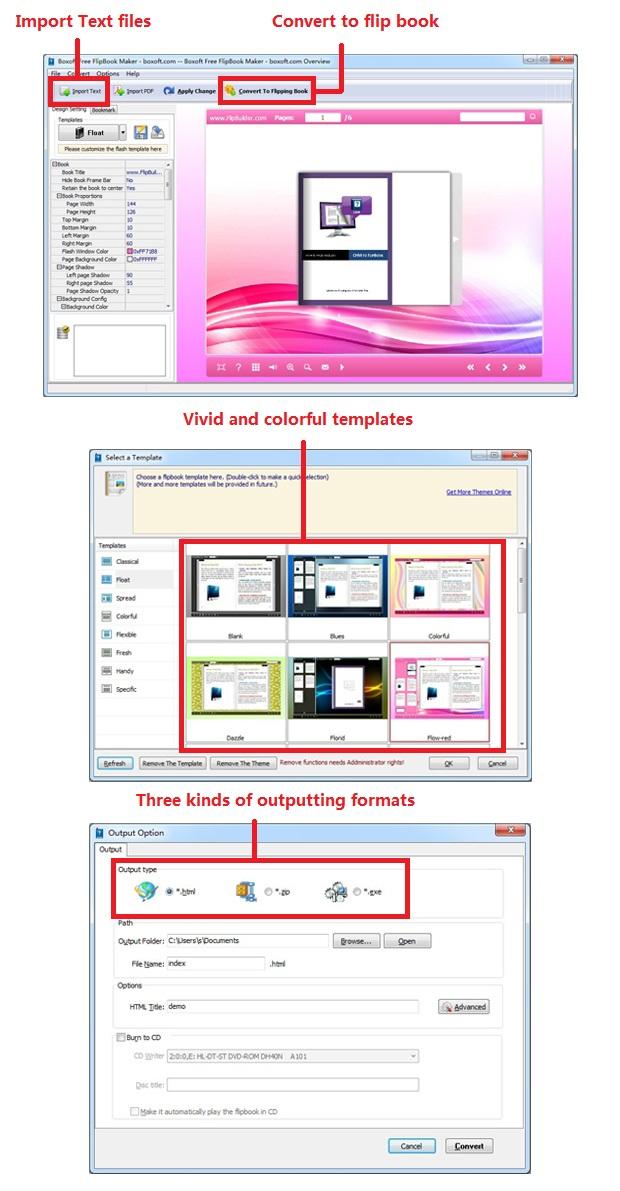 boxoft free flipbook maker convert text files to flipping book