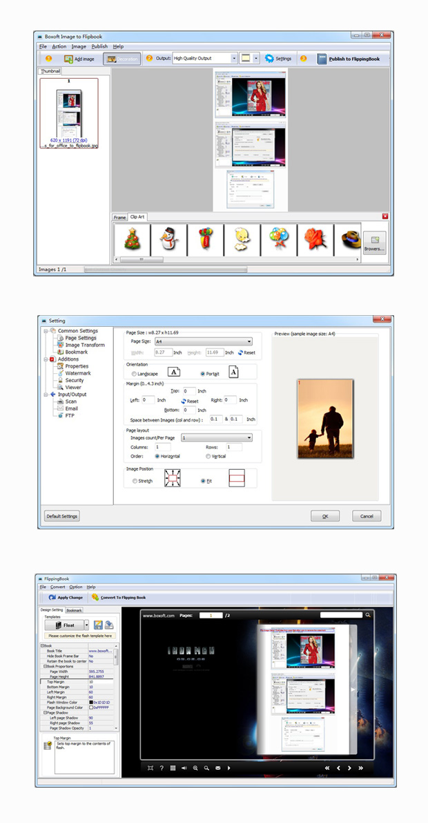 Boxoft Image to Flipbook full screenshot