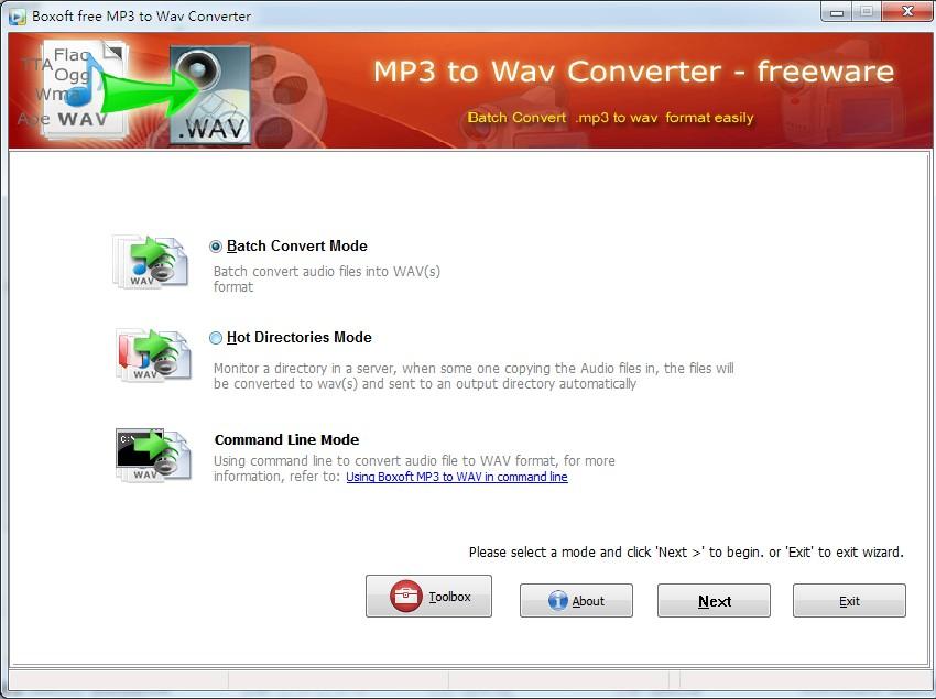 Boxoft MP3 to WAV Converter (freeware) 1.0