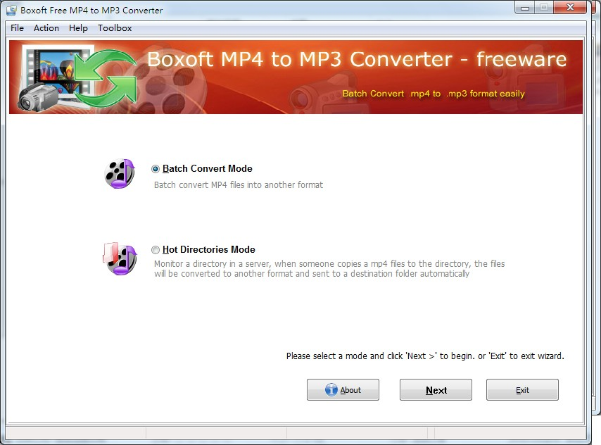 Boxoft MP4 to MP3 Freeware 1.2 full