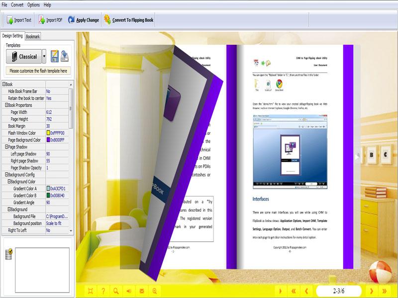 Free Paper Flip Maker full screenshot