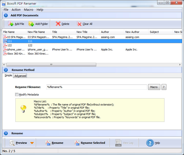 Windows 7 Boxoft PDF Renamer 3.7 full
