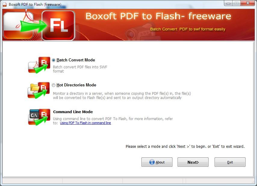 Boxoft PDF to Flash (freeware)