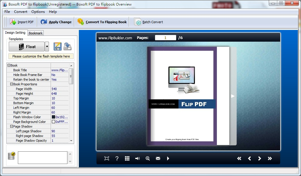 Boxoft PDF to Flipbook