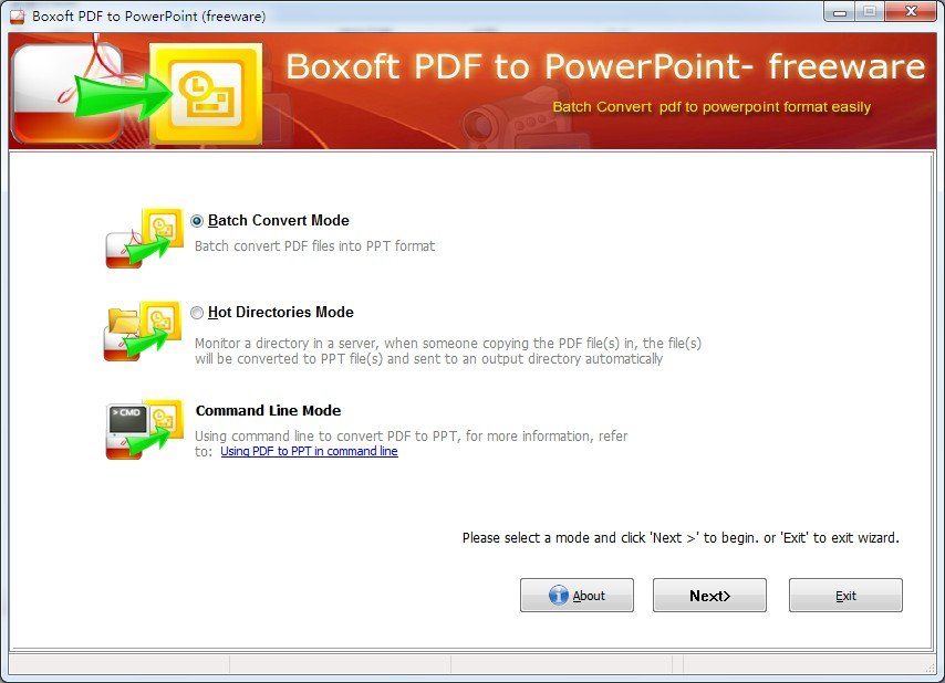 Boxoft Free PDF to PPT (freeware)