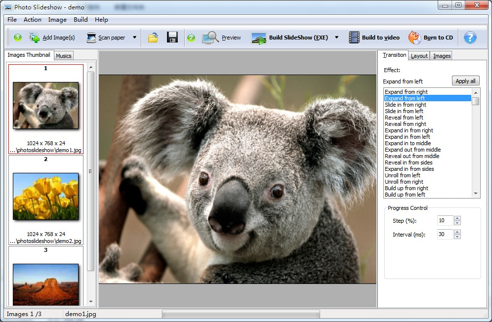 Boxoft Photo SlideShow Builder full screenshot