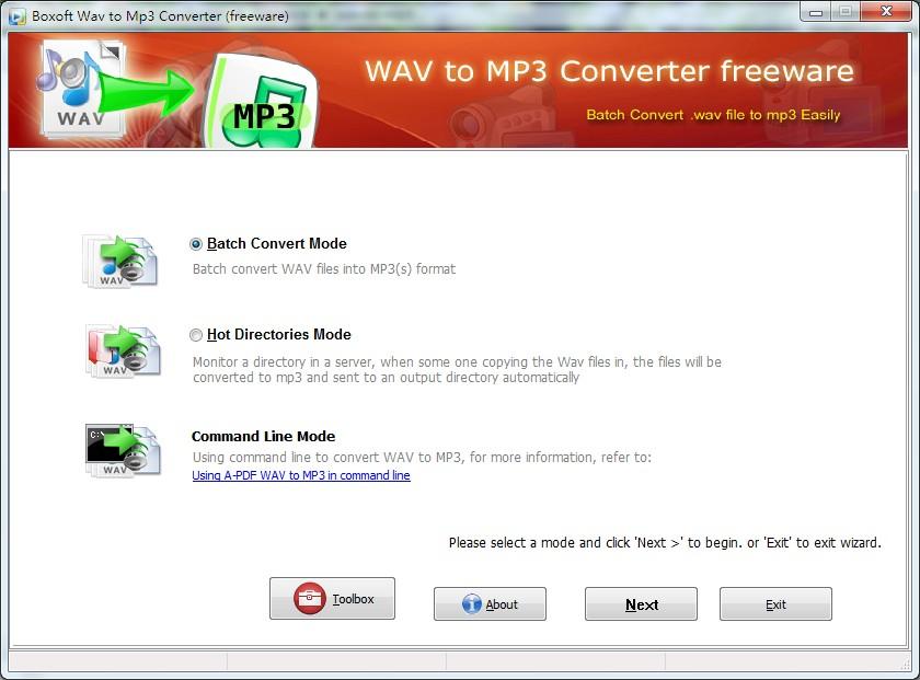 Boxoft WAV to MP3 Converter (freeware) 1.1 full